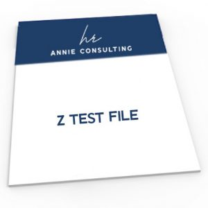 Z Test Template Cover