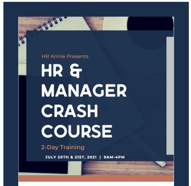 HR & Manager Crash Course